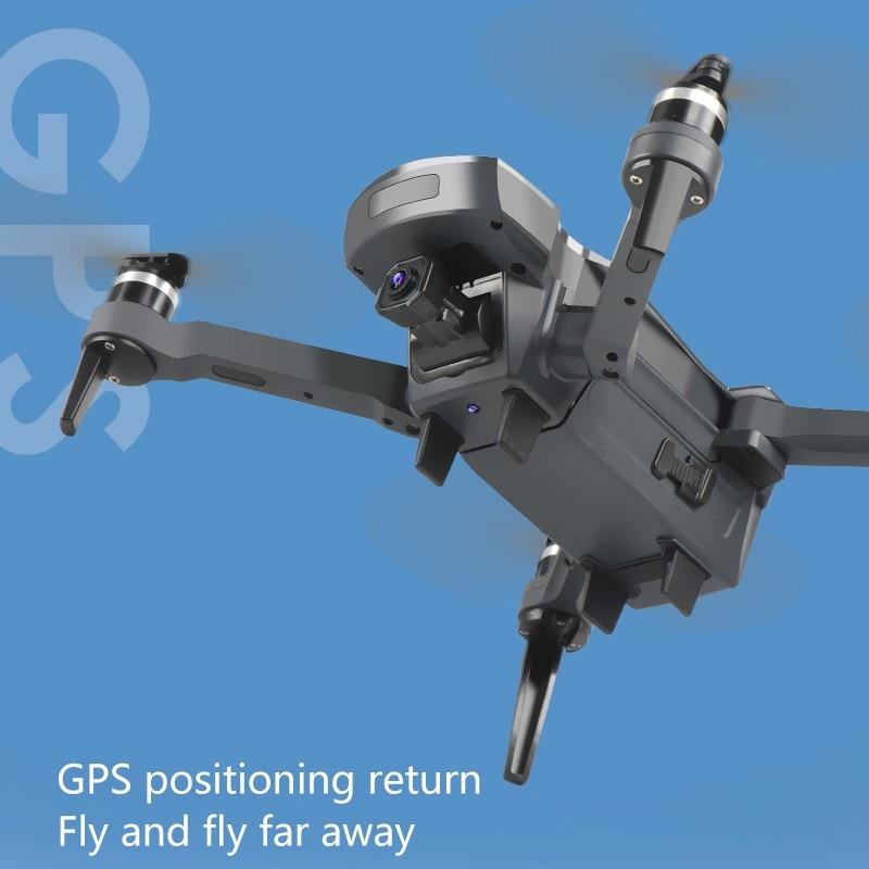2019 novo zangão k20 com 4 k câmera dupla gps um chave retorno modo headless siga me círculo voar rc drones brinquedos - 2