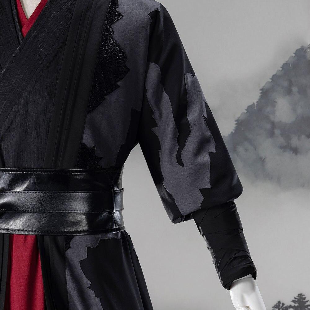 Mo Dao Zu Shi Wei Wuxian exquis grand maître de Costume de Cosplay démoniaque adulte Style chinois Wei Ying Hanfu vêtements de Cosplay - 3
