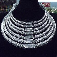 南西国家風合金シルバーメッキ 7 層糸の女性の襟祭のパフォーマンスアクセサリー女性ジュエリー