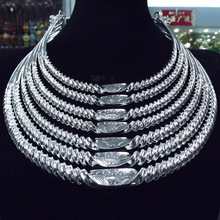 Southwestern National Wind Alloy Silver Plated Seven Layer Thread Womens Collar Festival Performance Accessories Female Jewelry