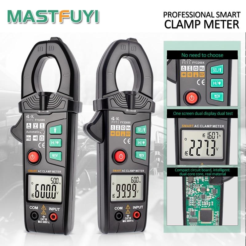 Интеллектуальный зажим Mastfuyi FY3269S/FY3269X, Автоматический диапазон, True RMS, высокая точность, Бесконтактный индикатор напряжения, цифровой зажим