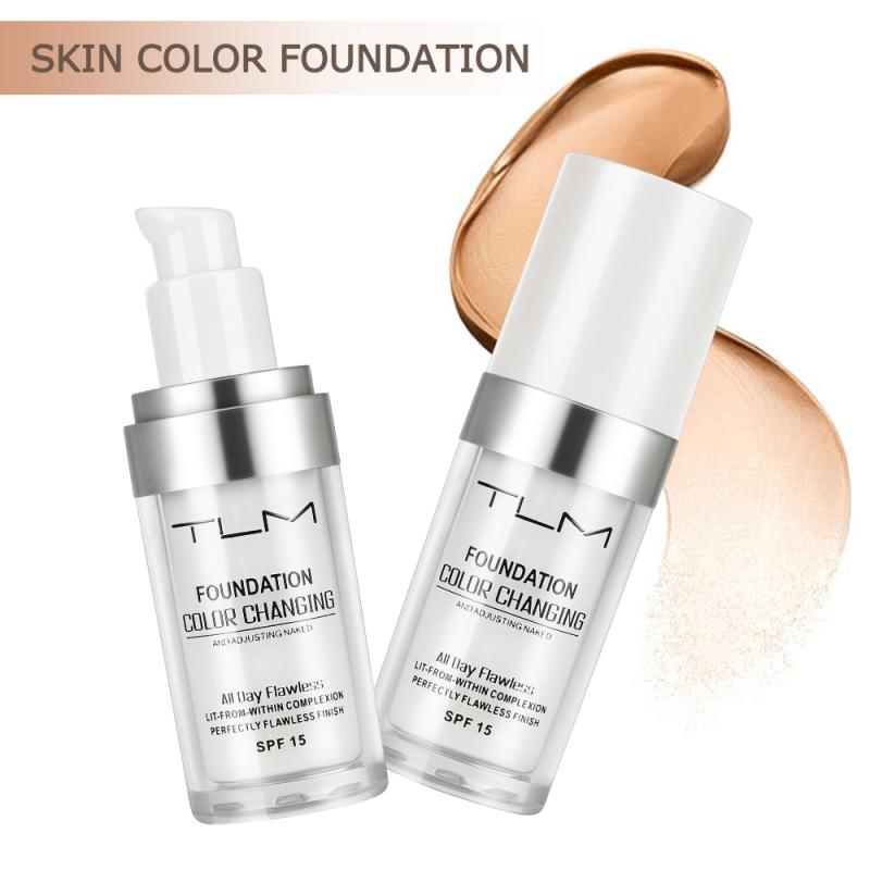 TLM Foundation Magic Color Changing Foundation Liquid Soft Matte Long Lasting Hydrating Makeup Base maquiagem Drop Ship TSLM1(China)