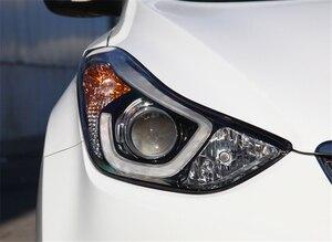 Image 4 - רכב פנס עדשה עבור יונדאי Elantra 2012 2013 2014 2015 2016 פנס עדשת החלפת רכב אוטומטי מעטפת כיסוי
