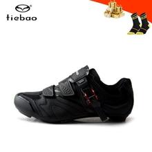 цена Tiebao cycling shoes road men women self-locking breathable bicycle riding sneakers Wear-resistant racing road biking shoes онлайн в 2017 году