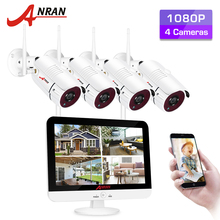 ANRAN Video Surveillance Kit 1080P WIFI CCTV System 12-inch Monitor NVR CCTV Camera Security System Waterproof Night Vision APP