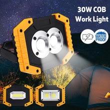 Work Lamp Portable Spotlight Worklight Flashlight Rechargeable 18650 Battery 180 Degree Solar Charging For Camping Flashlight