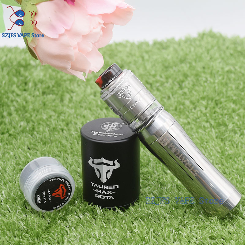 Tauren Max RDTA With Yftk Stratum Zero Mod 316 Ss 18650  21700 23mm Single2ML / 4.5MLCapacity Mech Mod Vape Vs Insider MTL Rda
