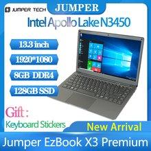 Jumper-ordenador portátil EZBOOK X3 Premium, 2021 tabletas, Windows 10, 13,3 pulgadas, 4 + 64GB, notebook, 1920x1080, IPS, oficina, 365