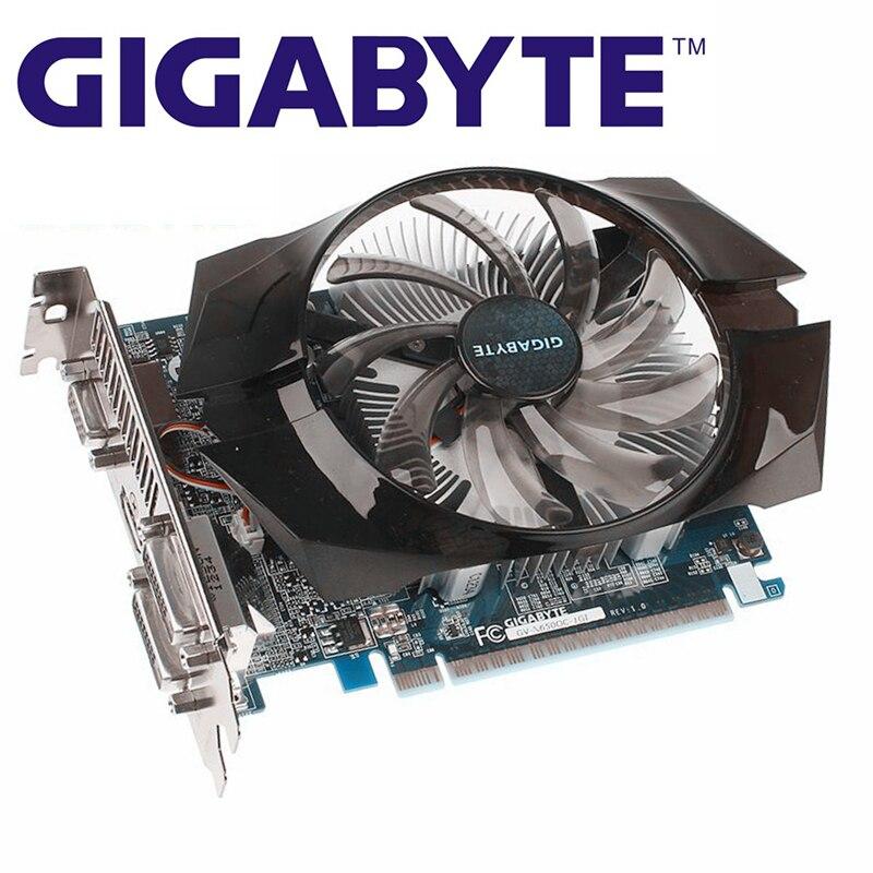 Видеокарта GIGABYTE GTX 650, 1 Гб, 128 бит, GDDR5, графические карты для nVIDIA Geforce GTX650, 1 ГБ, HDMI Dvi VGA карты, распродажа, N650 б/у