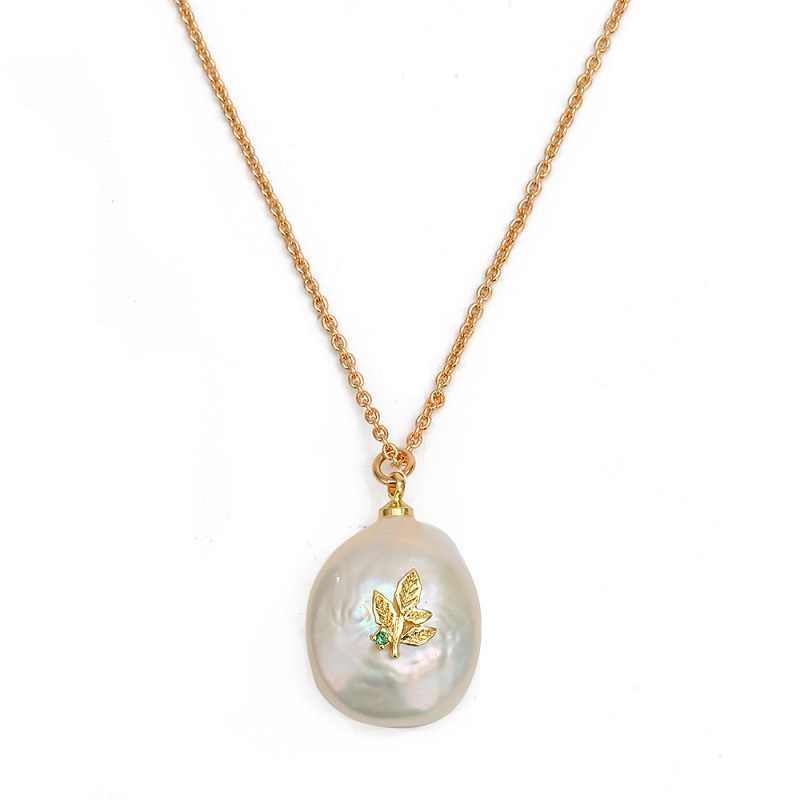 MEIBEADS 1pc Minimalist Baroque Pearl Life ต้นไม้หิมะ Charms Choker สร้อยคอจี้สำหรับผู้หญิงงบสร้อยคอไข่มุกเครื่องประดับ