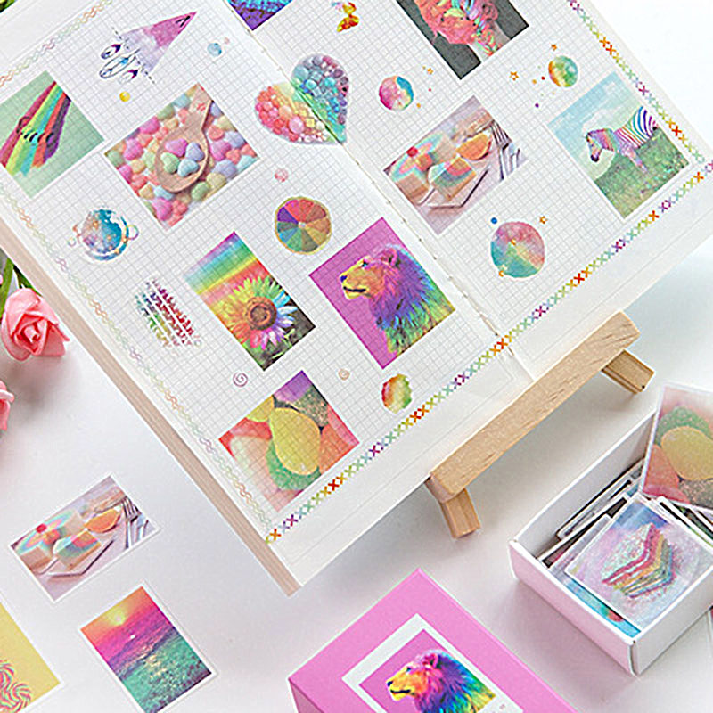 120Pcs/box Cute Decorative Stickers Kawaii Unicorn Stationery Stickers Paper Adhesive Sticker For Kids DIY Scrapbooking Supplies