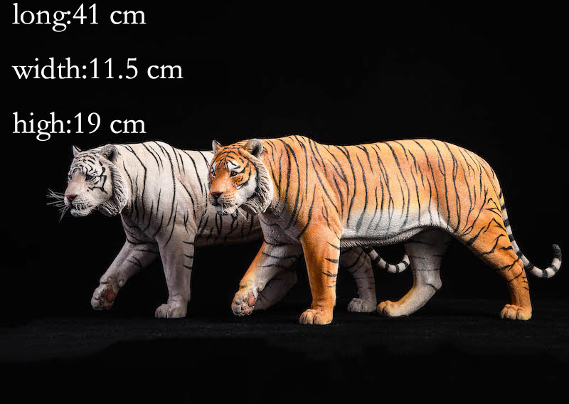 About 41CM 1/6 scale simulation Diecast PVC Lovely Asian tiger animal Resin model Kids Toys home decoration Collect Gift