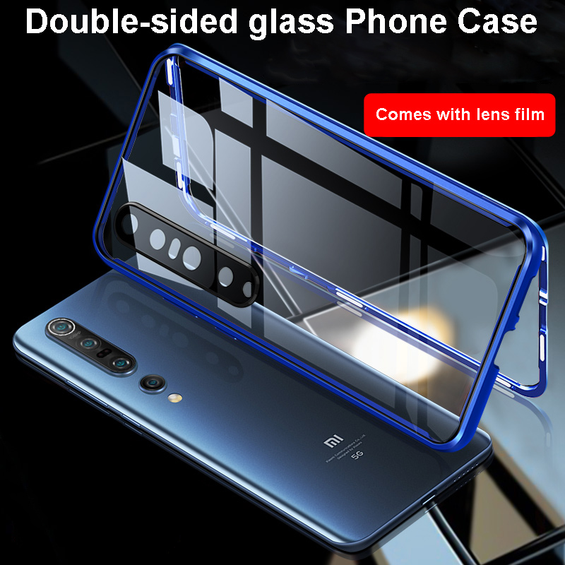 Magnetic Metal Adsorption Double Sided 9H Glass Case For Xiaomi 10 Pro For Xiaomi Redmi K30 K30 Pro Camera Protective Phone Case 2