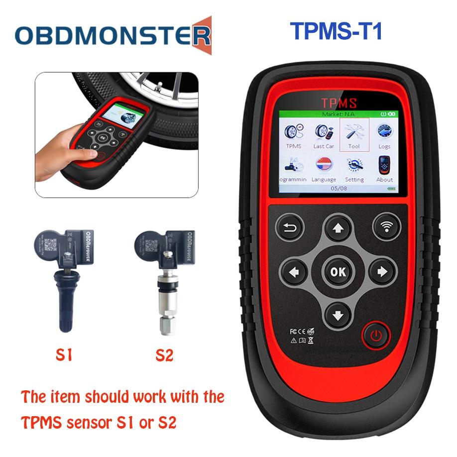 OBDResource T1 TPMS Tire Pressure Monitoring System OBD2 TPMS Diagnostic Scanner Tool Activate 315 433MHZ Sensor Programming