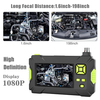 Endoscopes Camera 2m,5m,10m Borescope P30 Green Hand-held Industrial 4.3 inch High-definition 1080P Display Screen Borescope 1