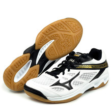 Мужские и женские кроссовки для волейбола из натуральной кожи Mizuno с молнией; спортивная обувь на подушке; дышащие Нескользящие кроссовки для дома; Tenis Voleibol