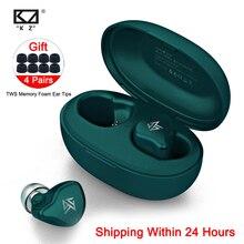 KZ S1D/S1 TWS bezprzewodowe sterowanie dotykowe Bluetooth 5.0 słuchawki dynamiczny/hybrydowy zestaw słuchawkowy z redukcją szumów słuchawki sportowe