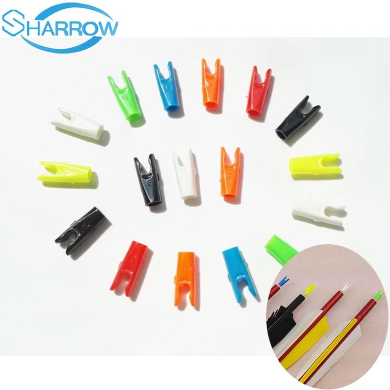 US $6.16 22% OFF|50pcs Arrow Nocks Insert Tails Insert ID 4.26.2mm Pin DIY Plastic Hunting For Arrow Shaft Hunting Shooting Accessories|Darts|