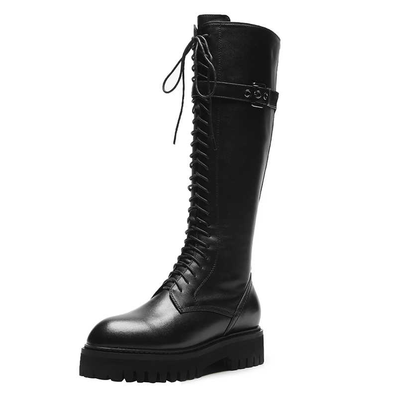 Marea Botines Mujer 2020 Militare Stivali di Inverno Delle Donne Botas Mujer Tacchi Med Scarpe Delle Donne Delle Signore Accoglienti Scarpe Moda Zapatos De mujer