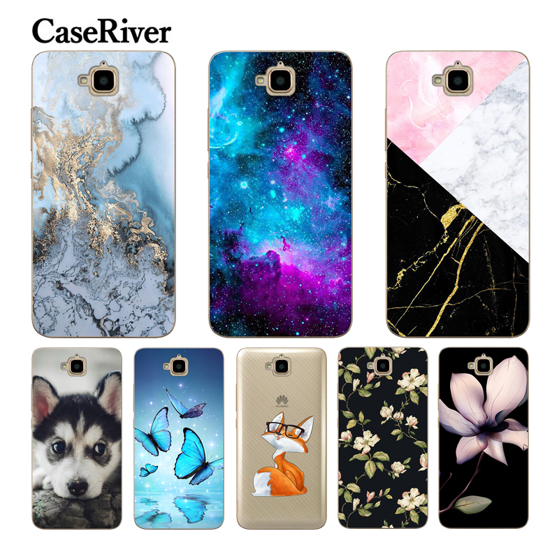 Huawei Honor 4C Pro CaseRiver For Honor 4C Cover Soft Silikon Geri Shell Case Huawei Y6 Pro case TIT-L01 TIT-TL00