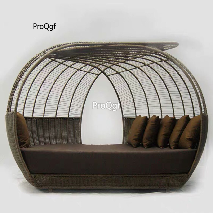 Prodgf 1 Set 250*170*160cm outdoor minshuku  rattan bed