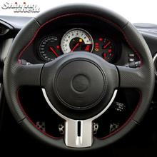Black Leather Car Steering Wheel Cover for Toyota 86 2012-2015 Subaru BRZ 2012
