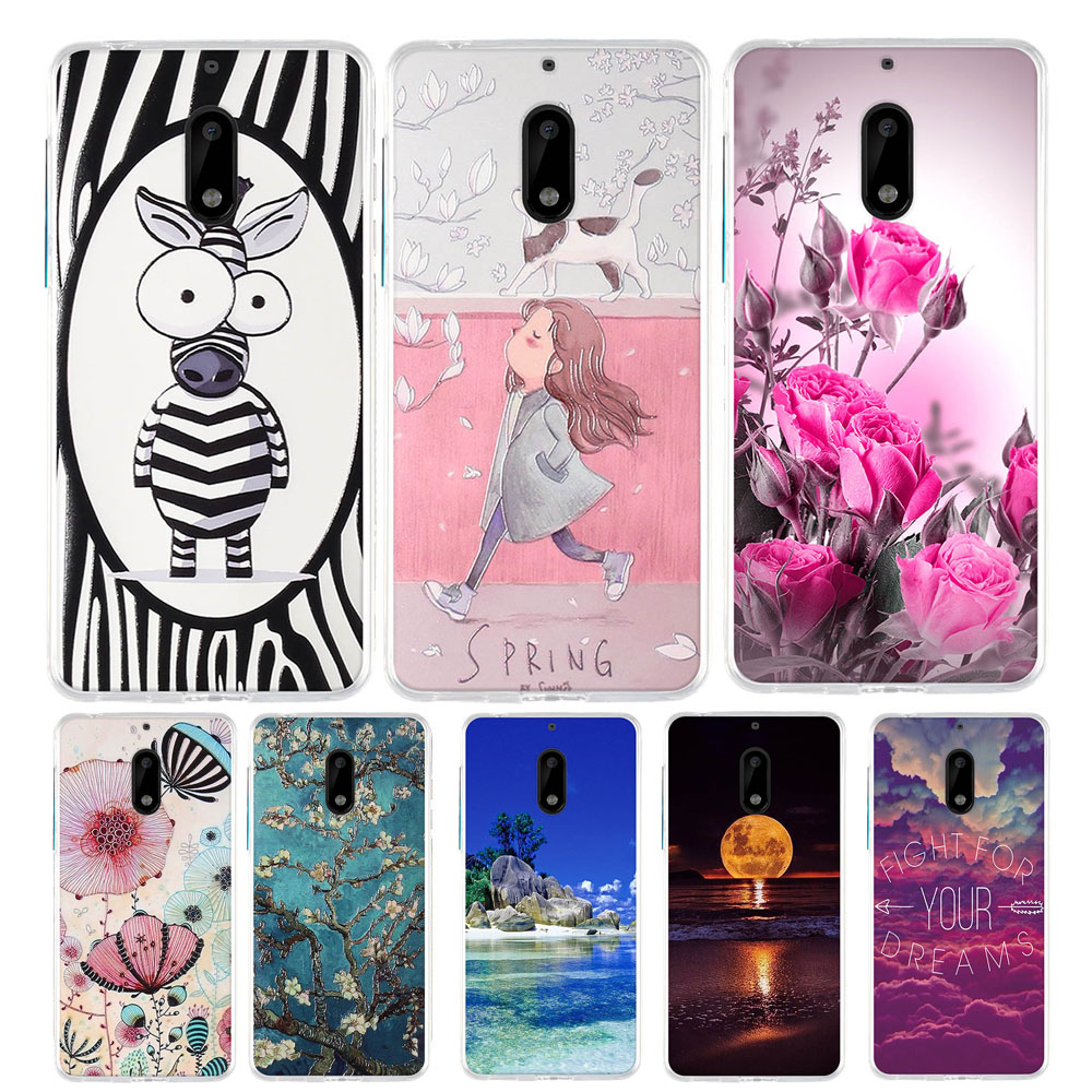 For <font><b>Nokia</b></font> <font><b>6</b></font> 2017 Silicone Case For <font><b>Nokia</b></font> <font><b>6</b></font> TA-1033 TA-1021 <font><b>Back</b></font> <font><b>Cover</b></font> Case Pattern For <font><b>nokia</b></font> <font><b>6</b></font> Funda Bumper 5.5 inch <font><b>Cover</b></font> Case image