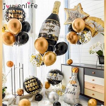 Happy New Year 2021 Decorations Wine Bottle Foil Balloons for Christmas Home Decor Air Globos New Year Eve Party Noel Navidad галло л психология на бегу учимся мыслить позитивно сборник простых и действенных упражнений