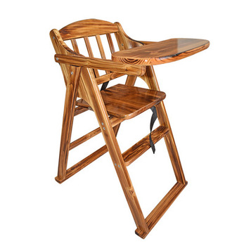 Children Dining Chair Solid Wood Multifunctional Portable Folding Baby Baby Dining Table Chair Hotel Bb Stool Leather Bag