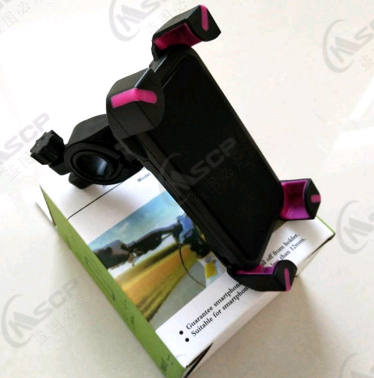 Plastic Mountain Bike Mobile Phone Bracket Riding Navigation Bracket E-Bike Four Corners Eagle Claw Mobile Phone Stand
