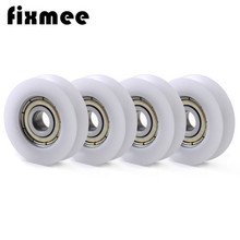 5pcs New U Groove Ball Bearing Nylon Plastic Embedded 608 Guide Pulley 8*30*10mm