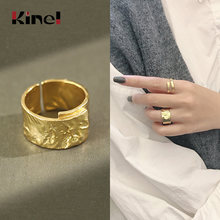 Кольцо kinel из настоящего серебра 925 пробы необычное Оригинальное
