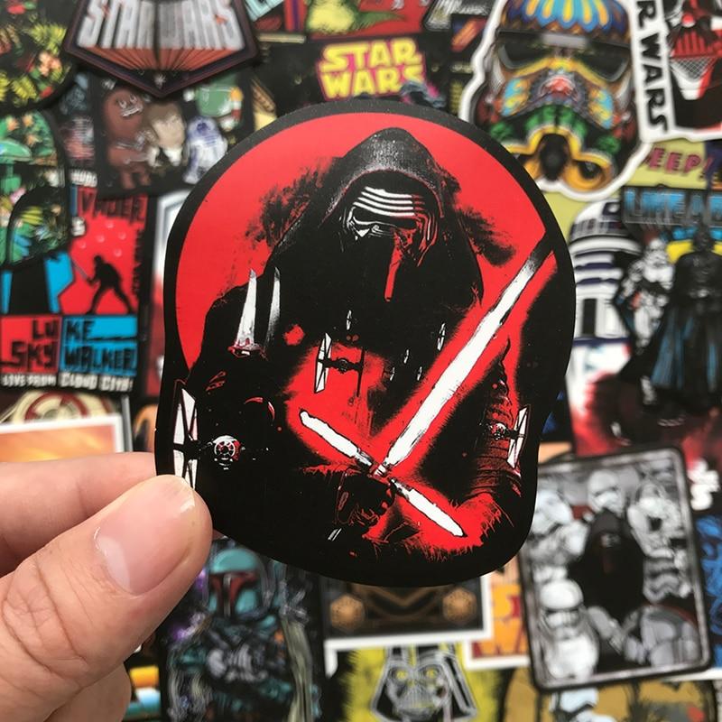 Darth Vader the FLESH SIDE Star Wars Skull Luggage Sticker Skateboard Laptop