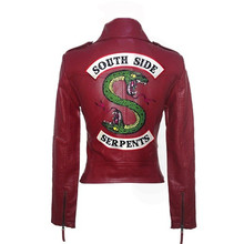 2019 New Spring Riverdale Southside Jackets Serpent Fans Zipper PU Jack