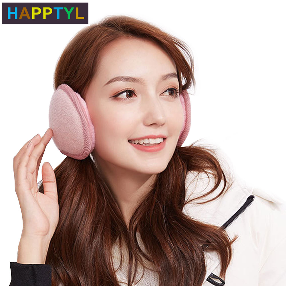 HAPPTYL 1Pcs Ear Warmer Unisex Classic Rabbit Plush Earmuffs Winter Accessory Outdoor Earmuffs Neck Protection