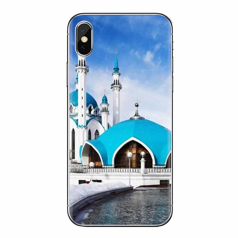 Transparent TPU coque pour xiaomi mi 4 mi 5 mi 5S mi 6 mi A1 A2 5X6X8 9 Lite SE Pro mi Max mi x 2 3 2S Qolsharif Mosquée Kazan Russie