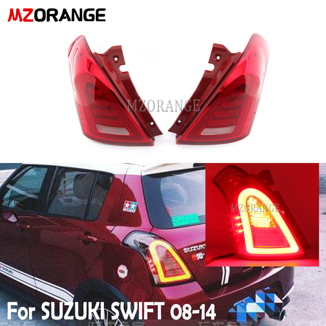 MZORANGE rear tail light for Suzuki for Swift 2008 2009 2010 2011 2012 2013 2014 Rear Lamp Signal Brake Reverse auto Accessories