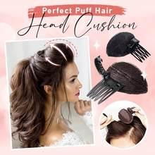 Almofada perfeita da cabeça do cabelo do sopro