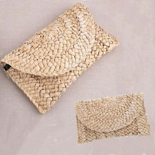 New Women Bags Straw Shoulder Tote Messenger Knit Satchel Bag Beach Bags Ladies Fancy Straw Cosmetic Bags