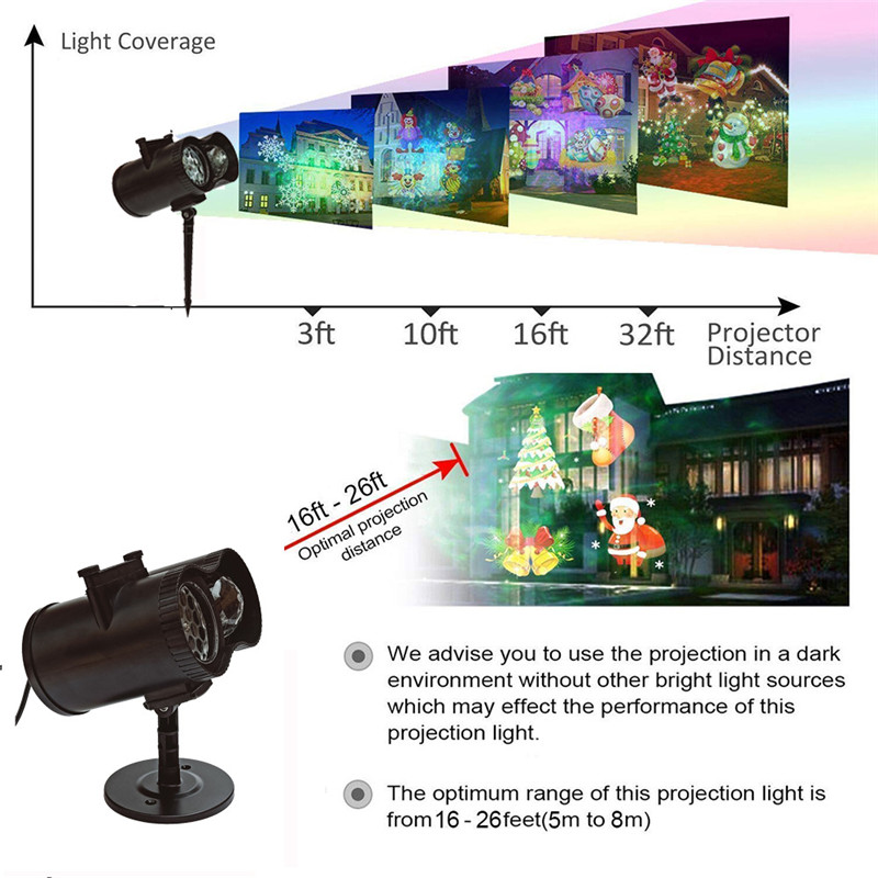 Animation DJ Disco Laser Scanner Projector LED Stage Lighting Full Color Effect Party Lights Illumination Show Light For Festiva