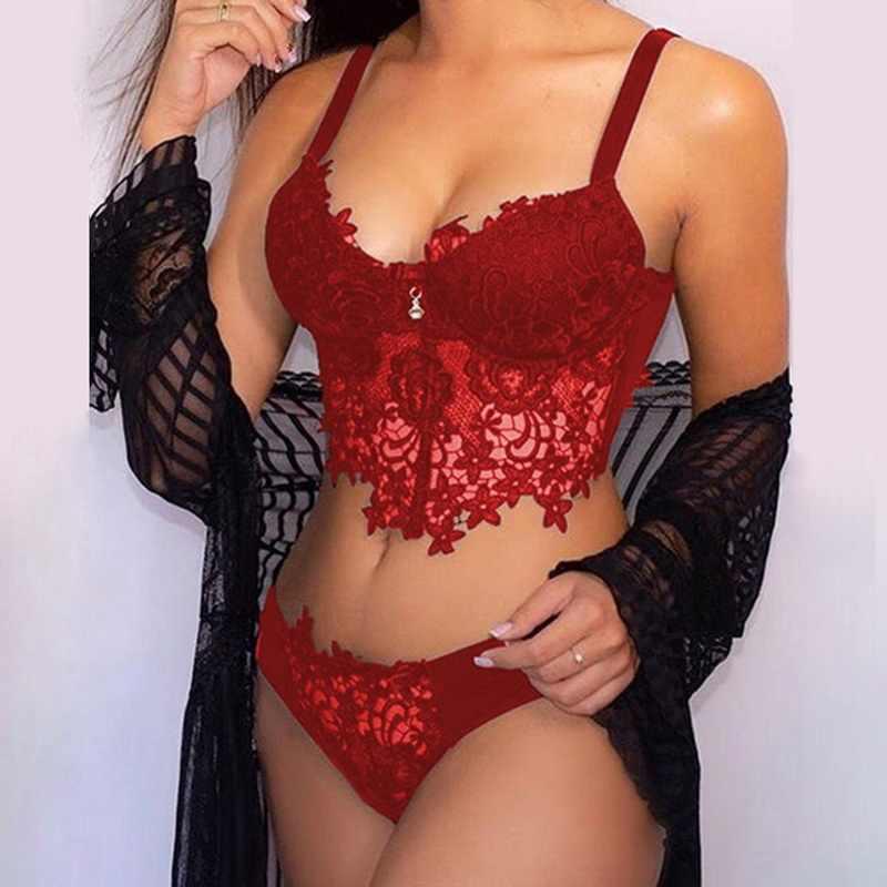 Bộ Đồ Lót Ren Sexy Nữ Ren Trong Suốt Mở Bộ Áo Ngực Hoa Dây Bộ Đồ Lót Váy Ngủ Áo Ngực Và Quần Bộ