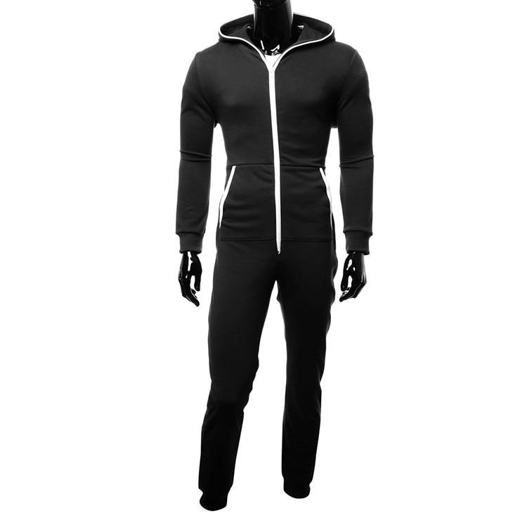 Winter And Autumn Men Hooded Onesies Pajama Kigurumi Elegant Solid Keep Warm And Soft Onepieces Homewear Casual Nightwear