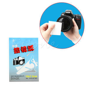 1pc 50 Sheets Soft Camera Lens Optics Tissue Cleaning Clean Paper Wipes Booklet Y3ND