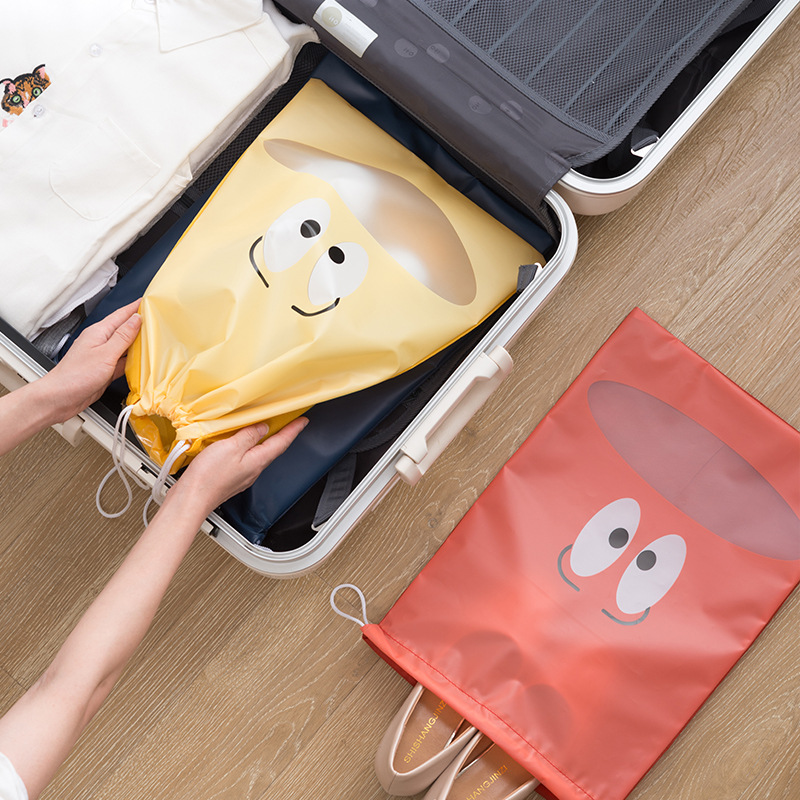 Cartoon Portable Waterproof Shoe Storage Bag Drawstring Pull Pocket Travel Organizer Drawstring Bags Laundry Makeup Storage Bag