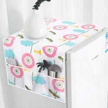 PEVA Kitchen Storage Bag Dust Cover Washing Machine Fridge Hanging Organizer Bag Bathroom Single Door Refrigerator Cloth Plastic