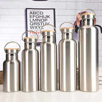 350ml To 1000ml Vacuum Flask Keep Warm&Cold 12H-24H 304 Stainless steel Thermos Water Bottle With Compass&Carabiner For Travel