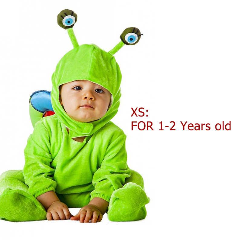 Eraspooky Purim Bayi Hewan Cosplay Rainbow Snail Shell Kostum Bayi Balita Kostum Halloween untuk Anak-anak Tahun Baru Pakaian