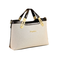 ICEV new casual simple strip clutch top handle bags handbags women famous brands ladies office work messenger bag zipper tote