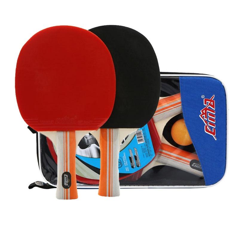 8 Stars Table Tennis Racket Bag And Balls Set Professional Paddle Rubber Sports PingPong Blade Table Tennis Bat