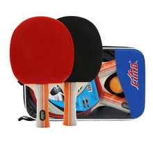 8 Stars Table Tennis Racket Bag and Balls Set Professional Paddle Rubber Sports PingPong Blade Table Tennis Bat(China)